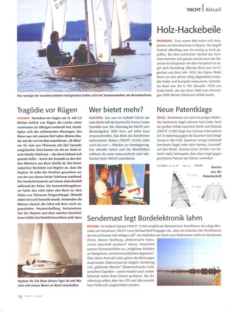 Yacht Magazin  Artikel