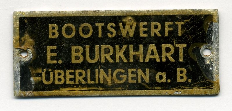 Burkhart Werftplakette Holzpirat Bernd