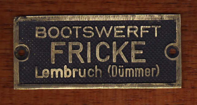 Holzpirat Fricke Wertfplakette