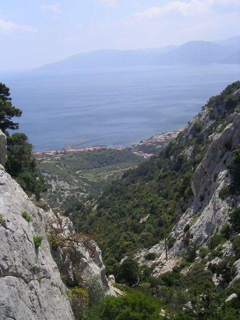 holzpirat org Sardinien  Blick auf Calagonone+Golf von Orosei