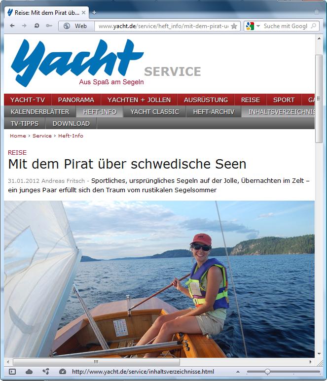 holzpirat org screenshot   Yacht Holzpirat in Schweden
