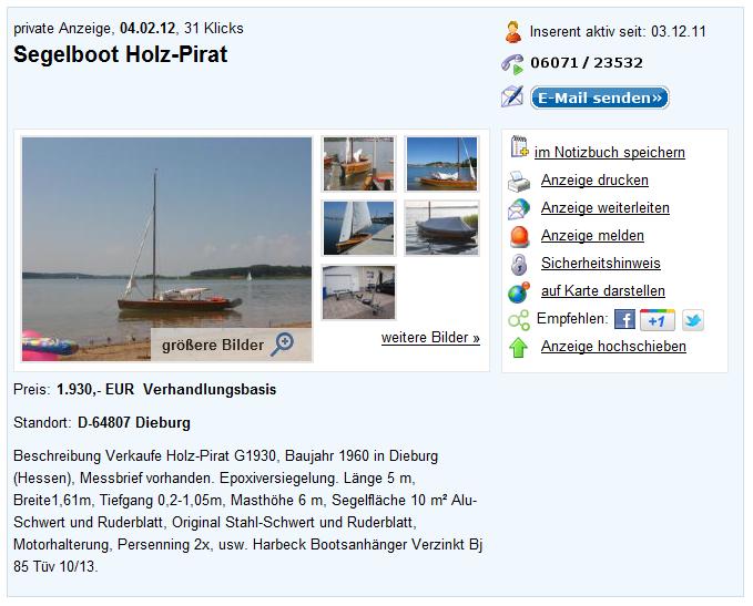 holzpirat org screenshot   Verkauf G Bärbel Dieburg