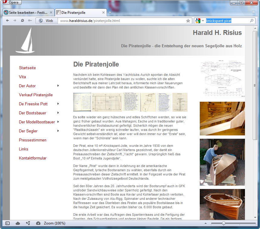 holzpirat org screenshot   haraldrisius neubau