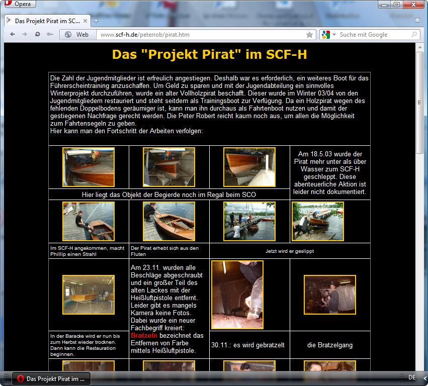 holzpirat org screenshot   peter rob