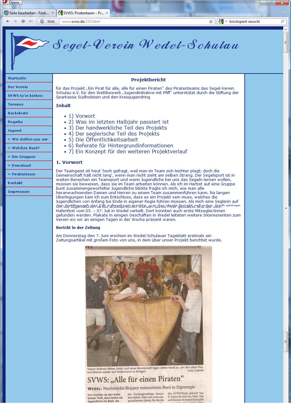 holzpirat org screenshot   svws