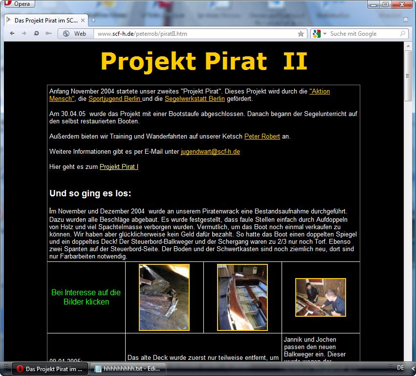 holzpirat org screenshot   peter rob pirat