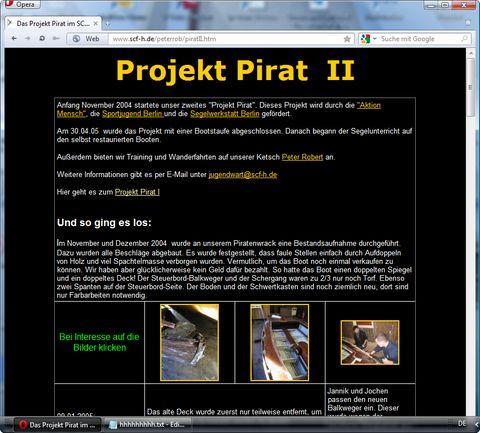 holzpirat org screenshot peter rob pirat er