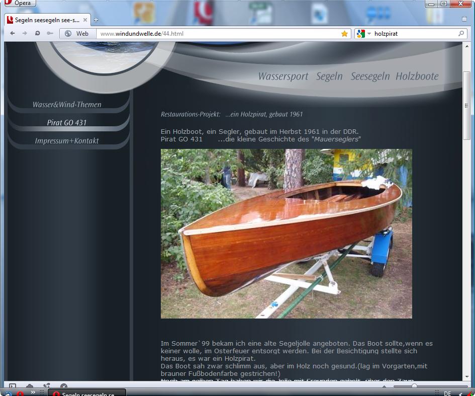 holzpirat org screenshot   Pirat GO