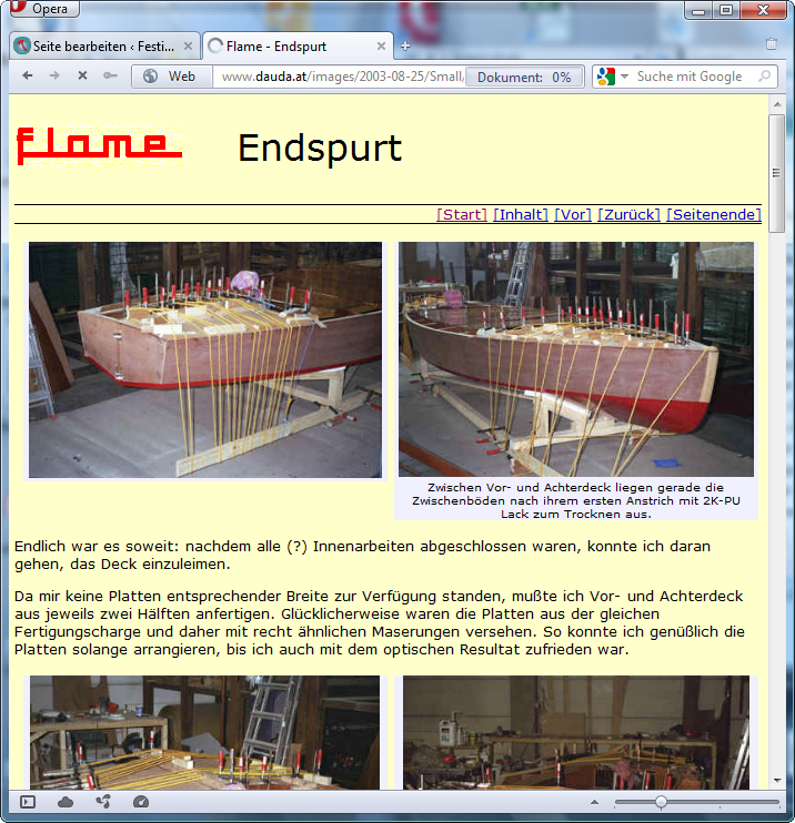 holzpirat org screenshot   flame