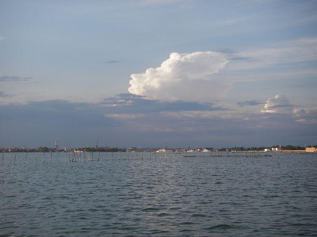 holzpirat org Venedig  Venedig von Lido gesehen