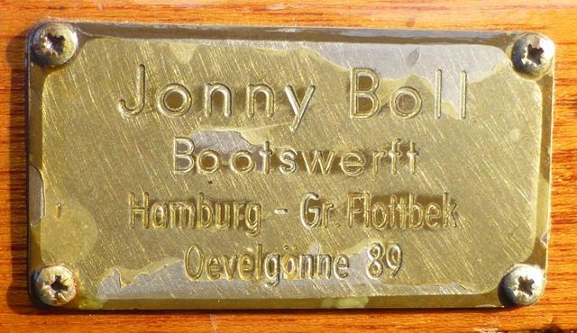 Werftplakette JonnyBoll P