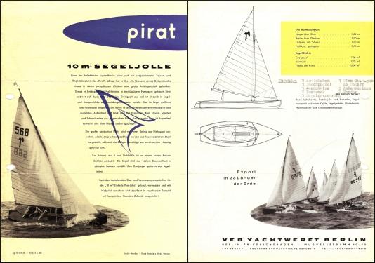 VEB Pirat Verkaufsflyer