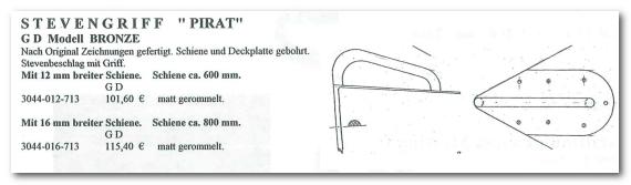 GD Boote Dauelsberg Katalog Seite Bug Deckplatte
