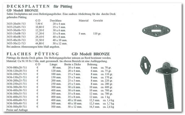 GD Boote Dauelsberg Katalog Seite Pütting