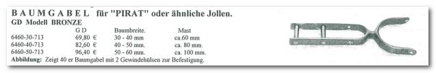 GD Boote Dauelsberg Katalog Seite Baumgabel Pirat