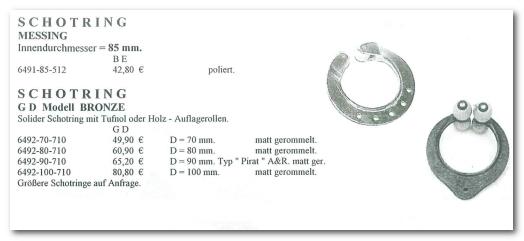 GD Boote Dauelsberg Katalog Seite Schotring