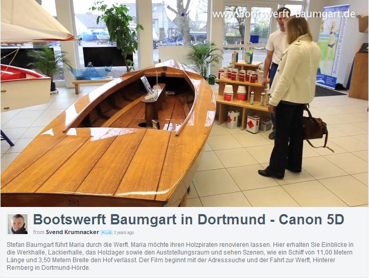 Holzpirat als Ausstellungstück Bootswerft Baumgart