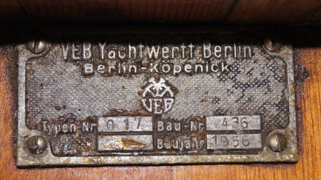 Holzpirat-Werftplakette-VEB-1956-GO1098