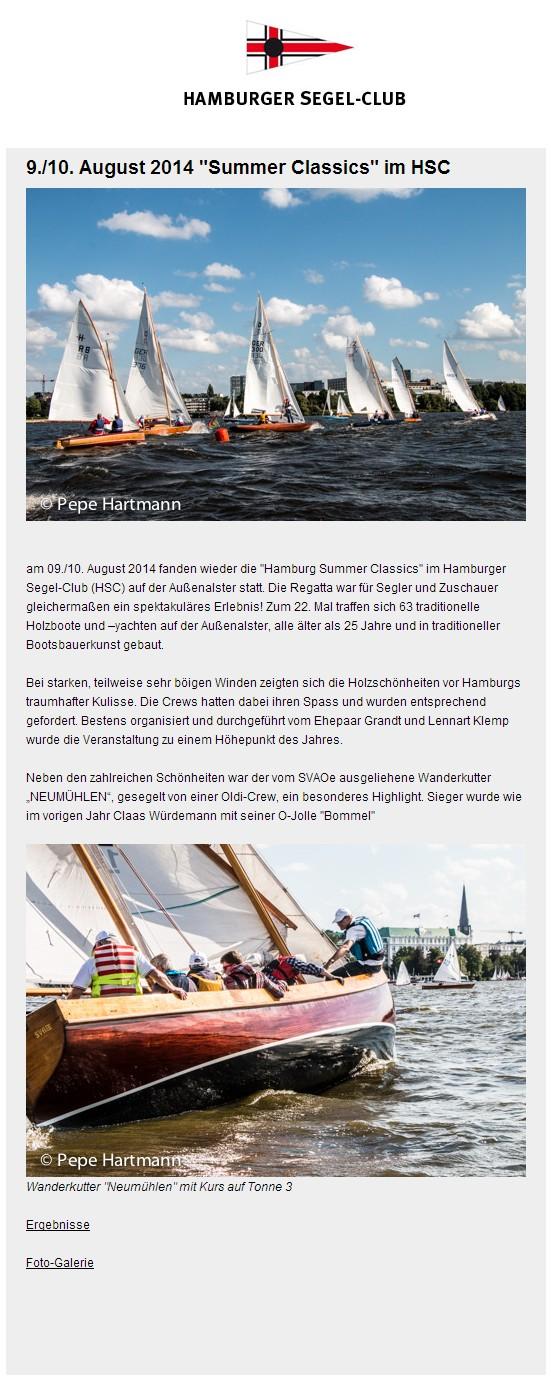HSC Screenshot HHSC Meldung