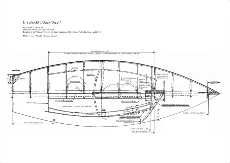 Bauplan-Pirat-SUI 534-Draufsicht Deck A3-thumb