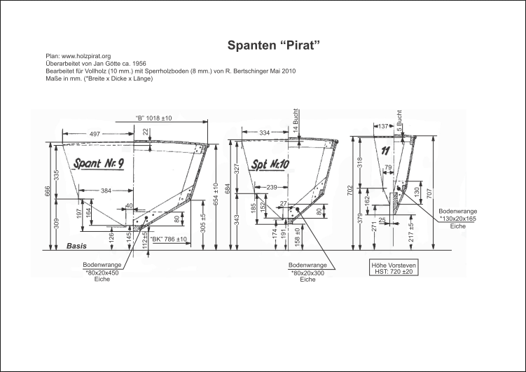 Bauplan-Pirat-SUI 534-Spant 9,10,11