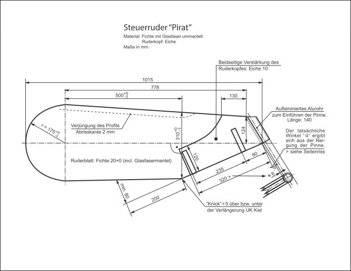 Bauplan-Pirat-SUI 534-Steuerruder